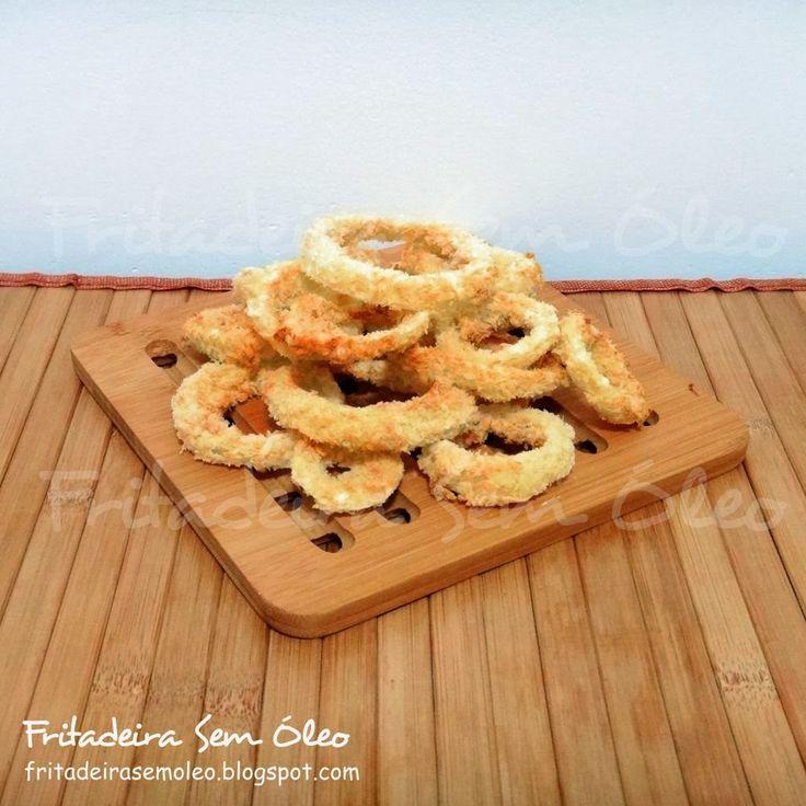 Onion Rings na AirFryer (Anéis de Cebola) - Fritadeira sem Óleo - AirFryer