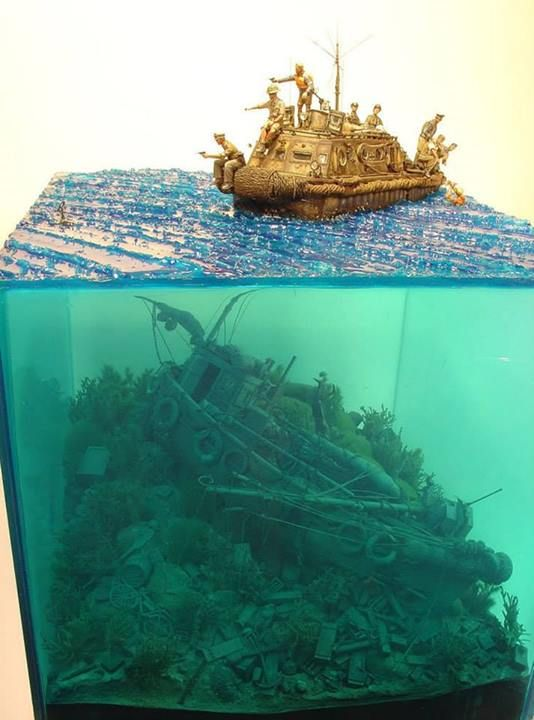 A great example of a diorama in multiple dimensions!