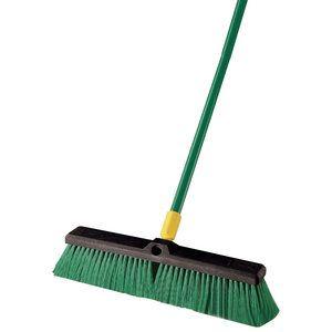 "Quickie Bulldozer 18"" Indoor/Outdoor Push Broom FAMILY"