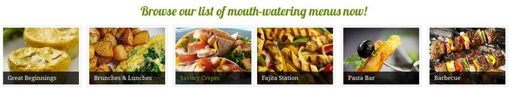 Brunch catering, Fajita stations pasta, cappuccino smoothie,  smoothie stations
