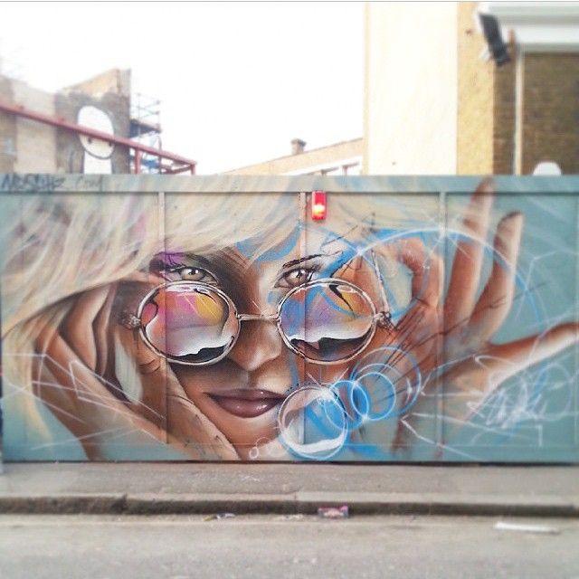 """""""Artist @mrsh1z #shiz photo credit @mrsh1z #Gullyart #london #2015"""""""