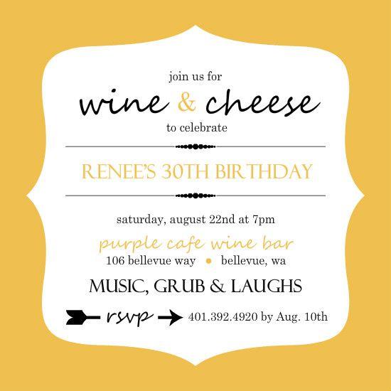 Wine And Cheese Birthday Party Invitation Wording Invitationjpg Com
