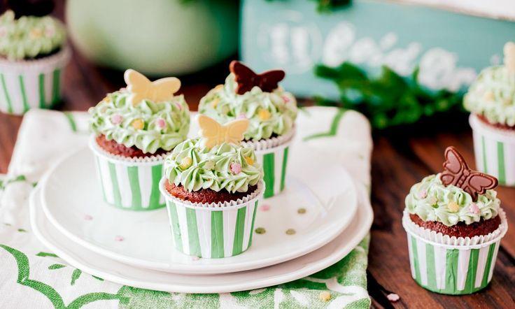Limetten-Schmetterlings-Muffins Rezept | Dr. Oetker