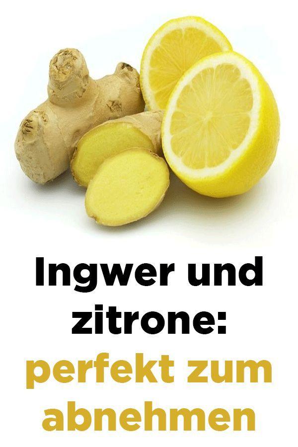 Zitrone mit Ingwerrezept zur Gewichtsreduktion