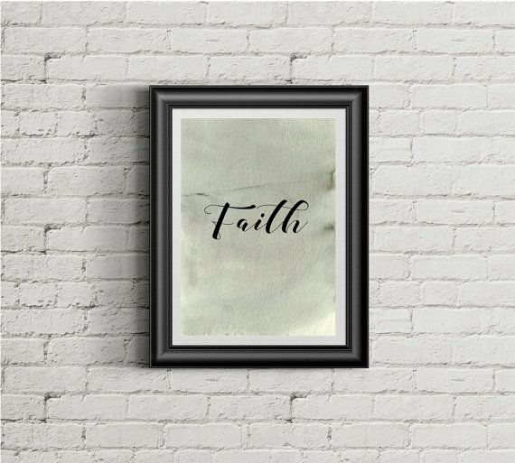 Faith wall print minimalist poster quote typography  by cre8corner