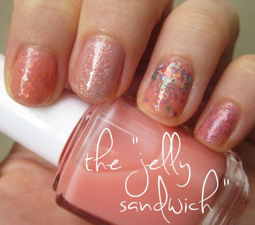 """how to create """"jelly sandwich""""nails"""