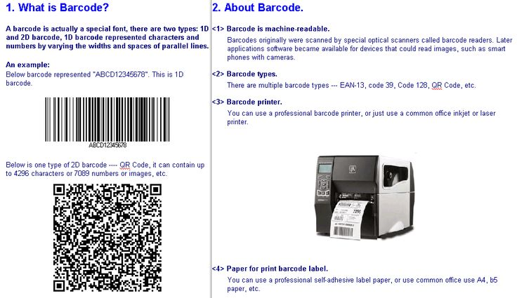 http://bar-code.me  eSoft Free Barcode Generator is a freeware for bar code labels printing, or address label printing. It can print barcode labels on ordinary A4, B5 paper or Avery label sheet, it can print barcode labels to laser or inkjet printer, or professional barcode printer and all type of barcode scanner. The add-in barcode feature let you can use MS Excel or Word to design complex barcode label. Support all 1D 2D barcode and QR code.