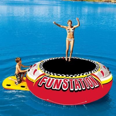 Shop for Funstation 12 Foot Giant Jumper Island Lake Bouncer SP58-1035 to match your style and budget at CozyDays. Enjoy free shipping on water trampolines all year round. 001166 029808009541