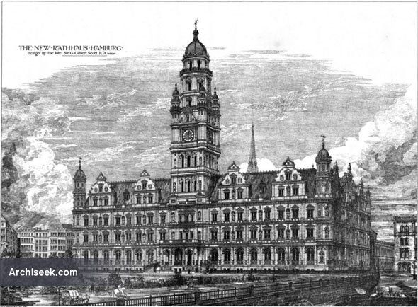 1878 - Design for Rathaus Hamburg, Germany