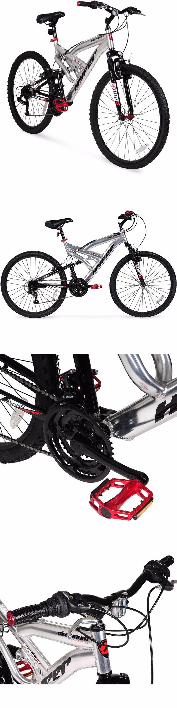 Bicycles 177831: Men S Mountain Bike 26 Aluminum Frame Bicycle Shimano Full Suspension Silver -> BUY IT NOW ONLY: $106.25 on eBay!