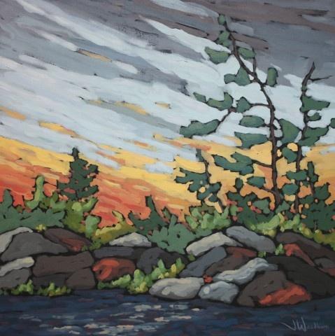 Jennifer Woodburn - Shoreline Sunset (study)