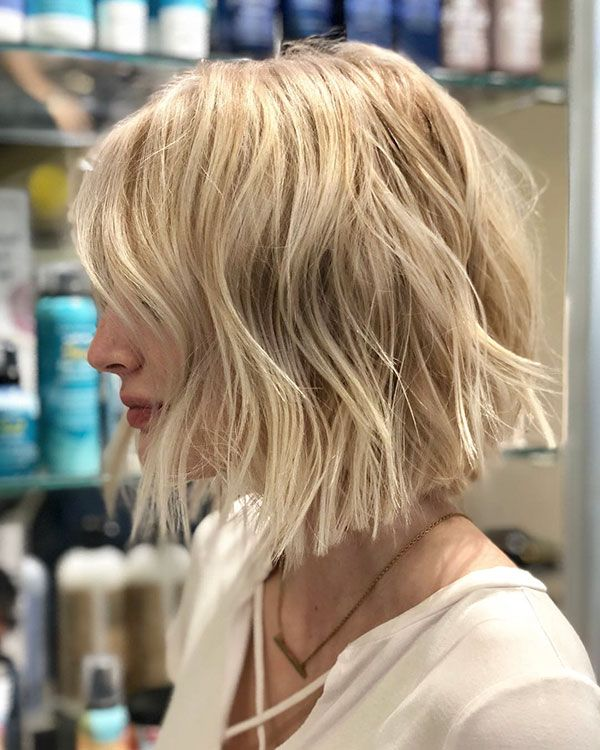 65 Latest Short Blonde Hair Ideas In 2020 Choppy Bob Hairstyles Hair Styles Bob Hairstyles