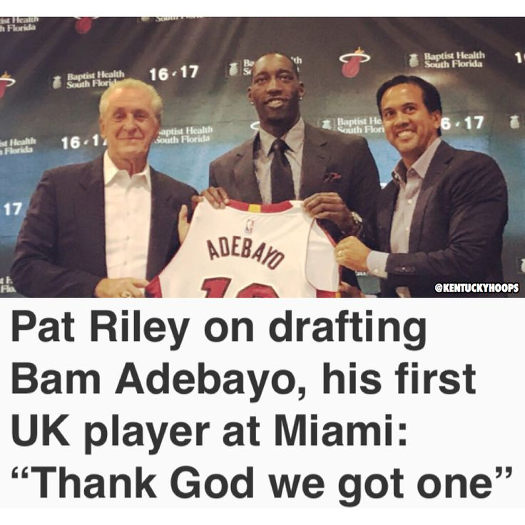 Pat Riley seemed pretty happy to have his first Wildcat in Miami! #BBN #StriveFor9