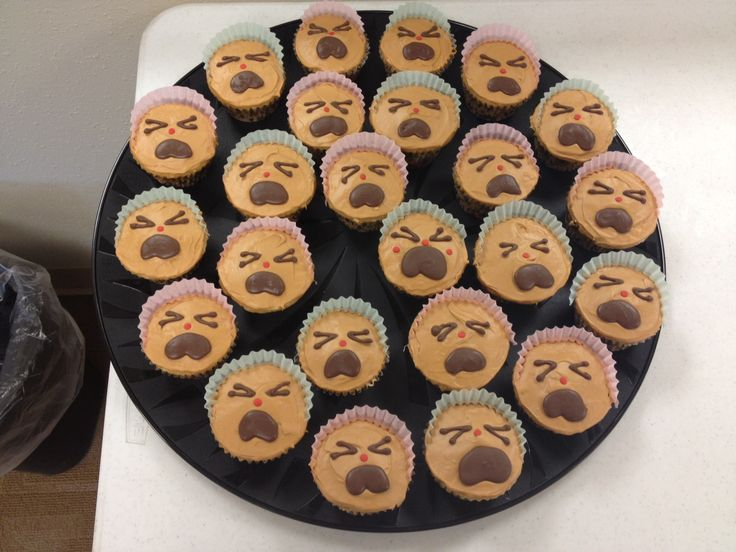 I made these cry baby cupcakes for a co-workers going away party.  They were a hit!