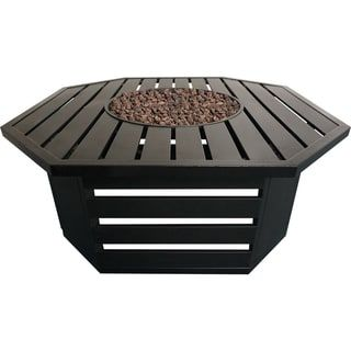 Shop for Roscoe Black Steel Gas Fire Table. Get free delivery at Overstock.com - Your Online Garden & Patio Outlet Store! Get 5% in rewards with Club O! - 24170345