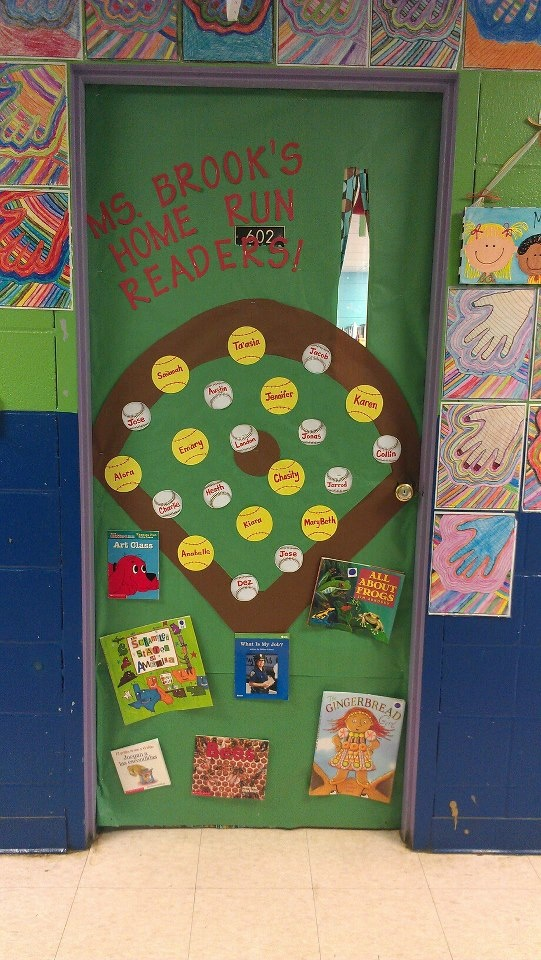 Classroom Decoration Games Free : Baseball softball themed classroom door project middle