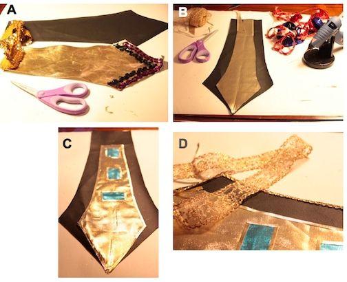 Making the Egyptian belt.