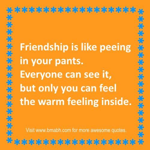 funny friendship quotes and sayings on www.bmabh.com. only you can feel the warm feeling inside. Follow us at https://www.pinterest.com/bmabh/ for more awesome quotes.