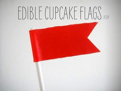 edible flags out of fruit roll ups :)