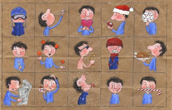 Estar, ser, tener... (Ilustración de Geneviève Després. Las cuatro estaciones -invierno-).