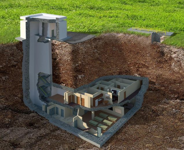 """The Facility, a massive """"luxury"""" bunker for sale in rural Georgia for $17M."""