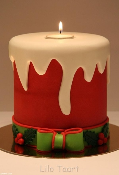 My christmas candle cake By lilo_taart on CakeCentral.com