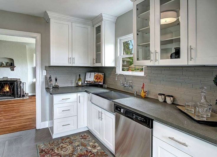 Best Add Crown Molding Above Stock Kitchen Cabinets For A Truly 640 x 480
