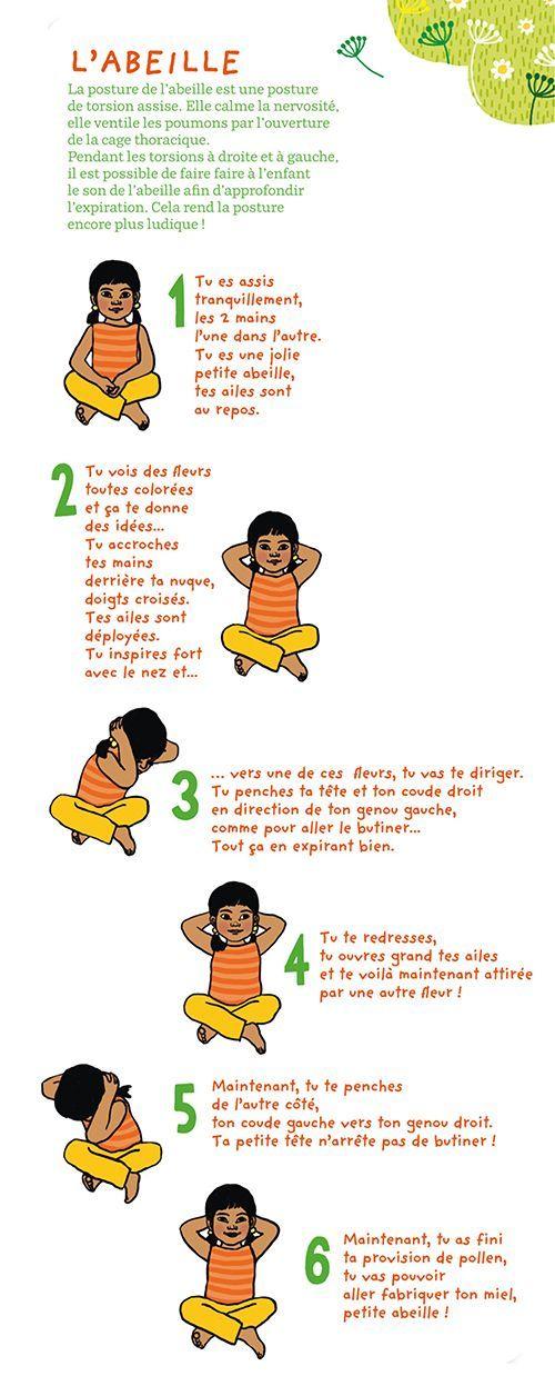 Le petit yoga : L'abeille:
