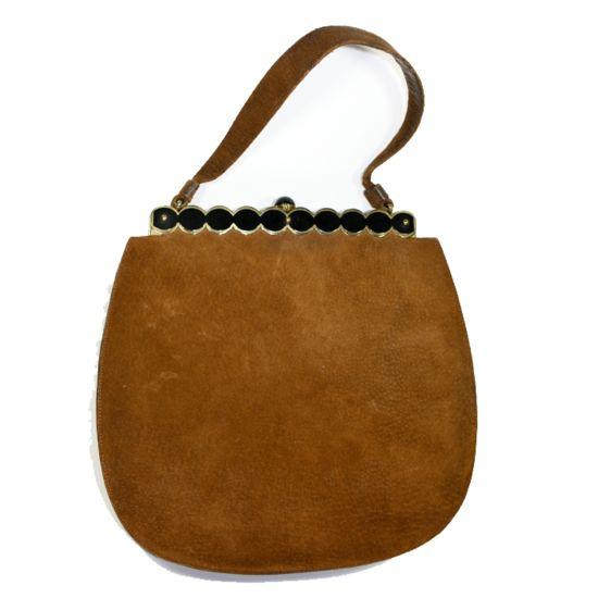 Bruin-suede-leren-vintage-tas -Bagging for Classic