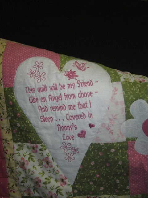 Poem for Like an Angel Quilt