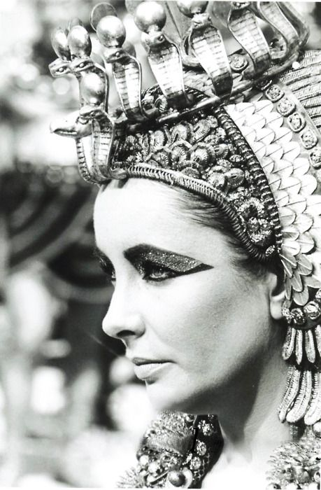 Elizabeth Taylor as Cleopatra.  Mad props to the make up artists and costumers.