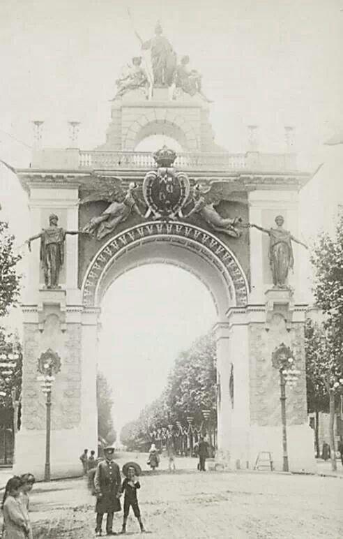 Arc Triunfal Gran Via. Exposició universal.1888