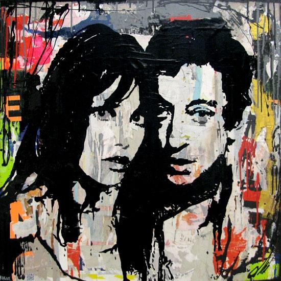 Jane Birkin & Serge Gainsbourg de Thierry Rasine sur Bye Bye Napoléon - http://byebyenapoleon.com/thierry-rasine-jane-serge/