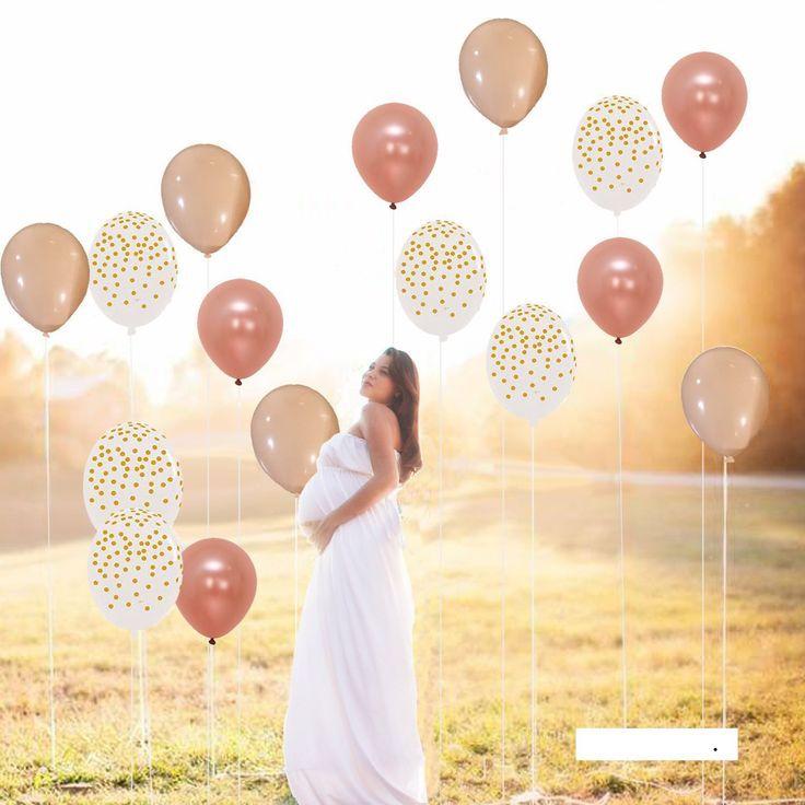3x 11 ' ROSE GOLD CONFETTI BALLOONS BIRTHDAY PARTY SUPPLIES UNICORN Helium