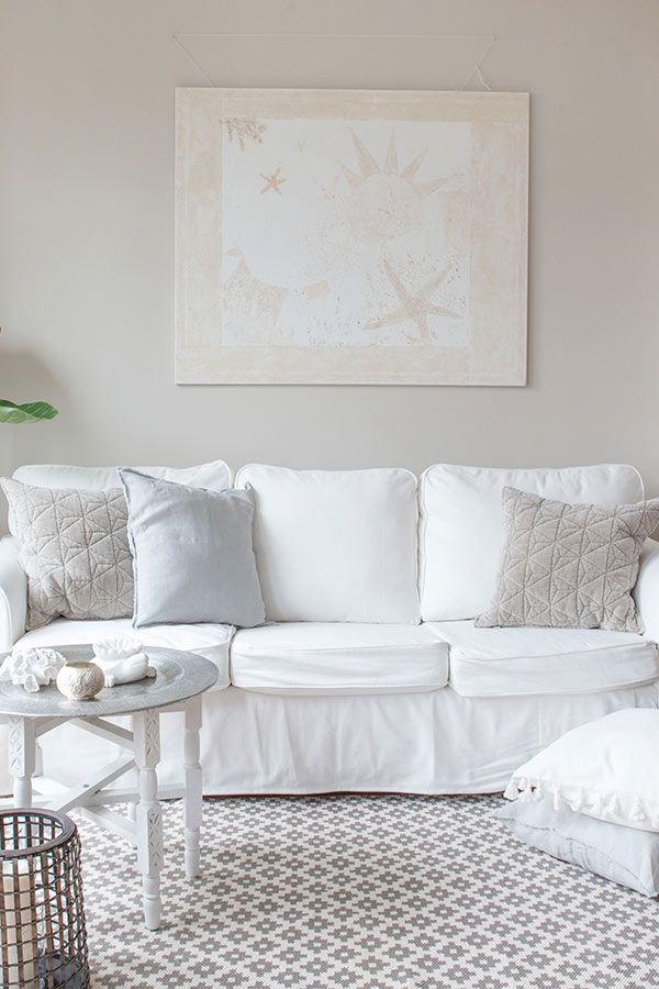 Wohnzimmer Sofakissen Styles Mit Unkompliziertem Weißem Sofa Von