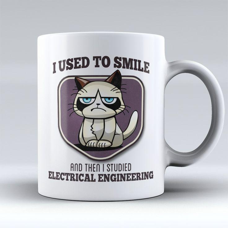 "Limited Edition - ""I Used to Smile - Electrical Engineering"" 11oz Mug"