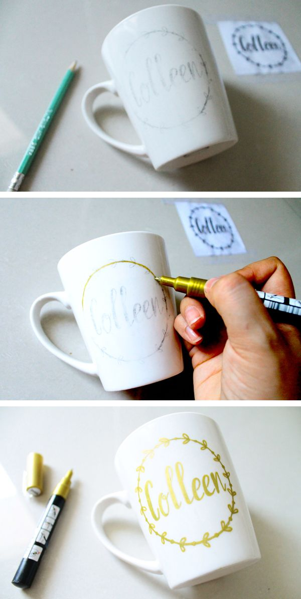 Follow these simple directions to transfer your own design onto a mug!