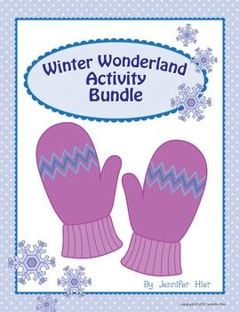 Bundle of winter-themed preschool and kindergarten activities...will use with The Mitten and The Snowy Day.