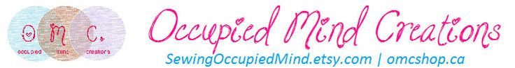 Glencoe, Ontario | Occupied Mind Creations OMC omcshop.ca par SewingOccupiedMind | https://www.facebook.com/OccupiedMindCreations/?fref=ts