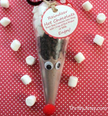 Rudolph reindeer hot chocholate mix - easy christmas gift // Rudolf rénszarvas formájú instant forró csoki készlet // Mindy - craft tutorial collection