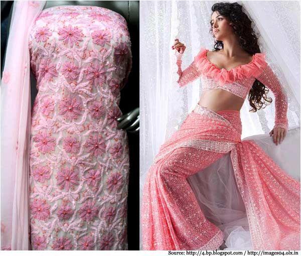 Top 20 hand machine embroidery designs for salwar kameez for Wedding dress material online