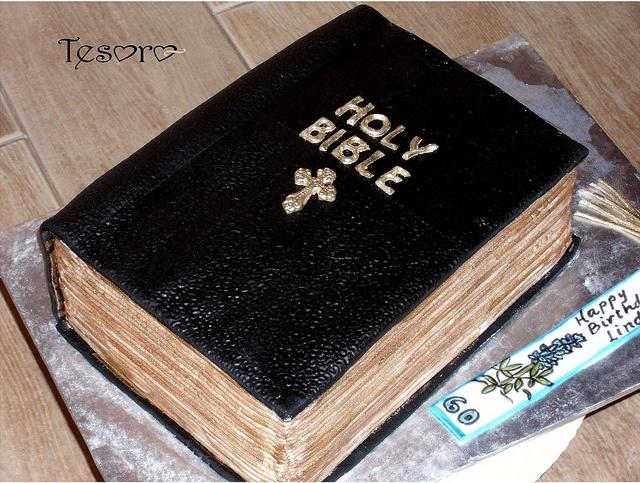 Bible cake - looks real