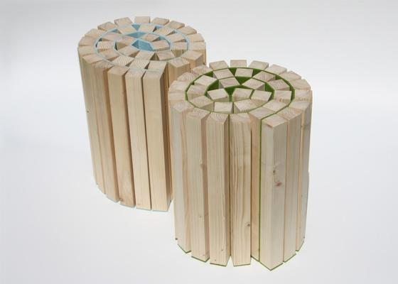 Handmade stool by Kuiken Design