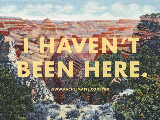 grand canyon by rachel matts - love this for a postcard