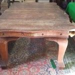 Dining surface on 7ft Riley Serpentine Snooker Dining Table.   Browns Antiques Billiards and Interiors.