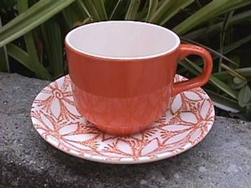"""""""CLEMATIS"""" in a coral colour? I just snagged a bowl in this in green!"""