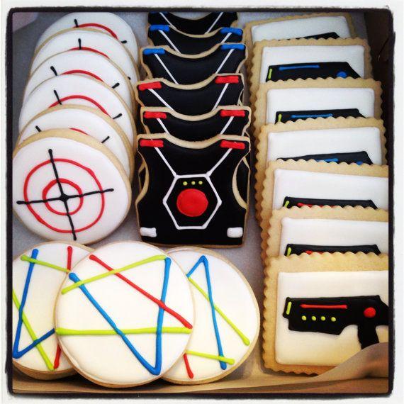 Laser Tag Cookies by SweetTreatSisters on Etsy