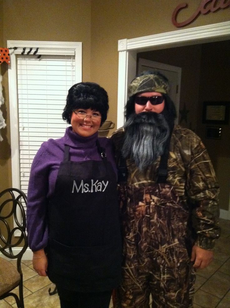 Halloween 2012... Duck Dynasty style... Ms. Kay and Phil... Won Best Couples Costume!!!