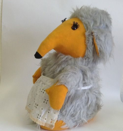 Vintage 1970s Wombles Madame Cholet Pyjama Case Toy - I don't think this is quite the same as the one I had but near enough, mine's nose kept falling off