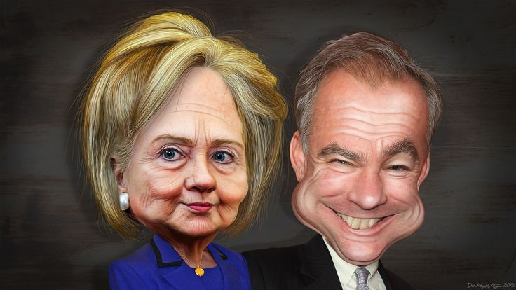 https://flic.kr/p/KZBRuf | Hillary Clinton and Tim Kaine - Caricatures | Hillary Diane Rodham Clinton, aka Hillary Clinton, is a former as Secretary of State, Senator from New York and First Lady of the United States. Clinton is a candidate for President of the Untied States. Timothy Michael Kaine, aka Tim Kaine, is a Democrat serving as a Senator from Virginia. Kaine was previous elected Governor of Virginia, Lieutenant Governor of Virginia and Mayor of Richmond. He is the nominee of the…